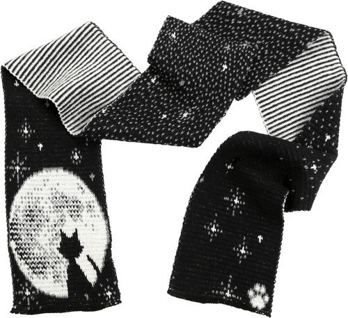 Green 3 Apparel Cat Moon Scarf
