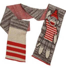Green 3 Apparel Sock Monkey Stripe Tee Scarf