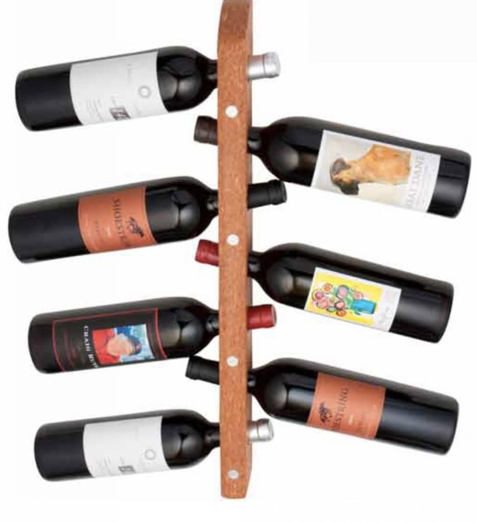 7 Bottle Wall Wine Rack