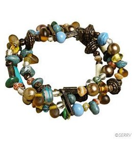 SERRV Teal Beaded Braclet