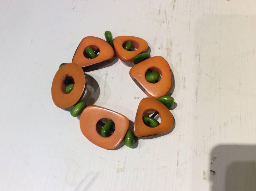 Tagua Thick Slice & Chip Bracelet