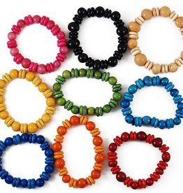 Tagua Pearl & Button Bracelet