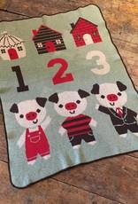 Green 3 Apparel 3 Pigs Jr Throw Green