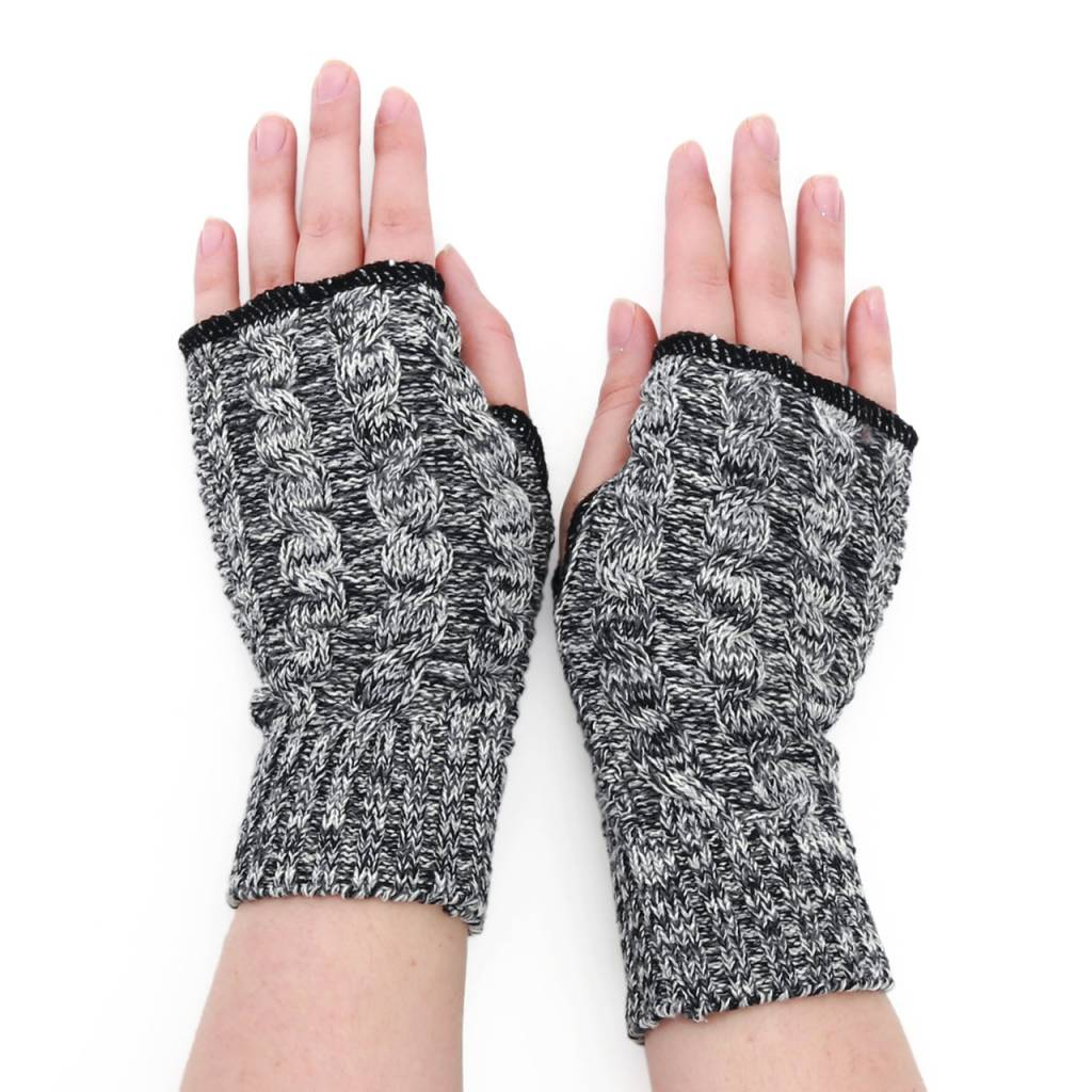 Green 3 Apparel Space Dye Cable Handwarmers