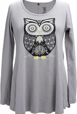 Green 3 Apparel Retro Owl LS Tunic