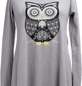 Retro Owl LS Tunic
