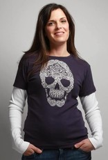 Green 3 Apparel Skull Double Up