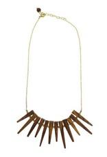 Wood Burst Necklace
