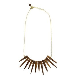 Wood Burst Necklace