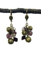 WorldFinds Analise Cluster Earrings Plum