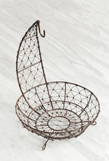 Wire Mesh Footed Fruit Hanger Basket