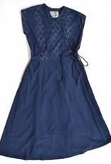 Pich wrap dress - Navy with Diamonds