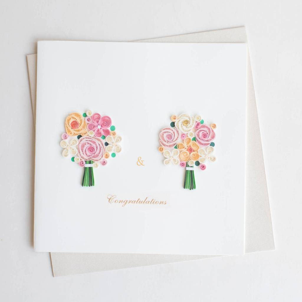 Quilling Card Two Brides