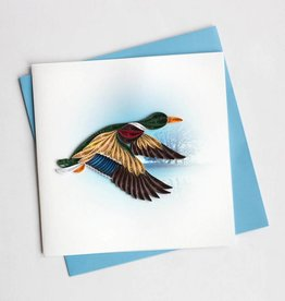 Quilling Card Mallard Duck