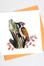 Quilling Card Woodpecker