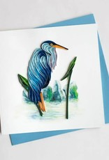 Quilling Card Blue Heron