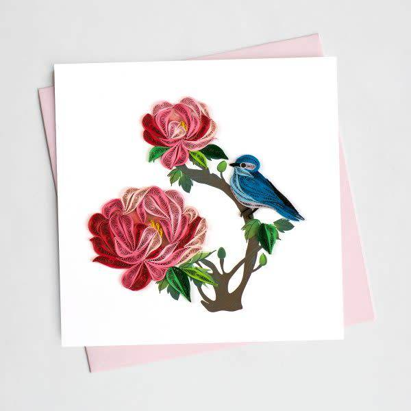 Quilling Card Peony