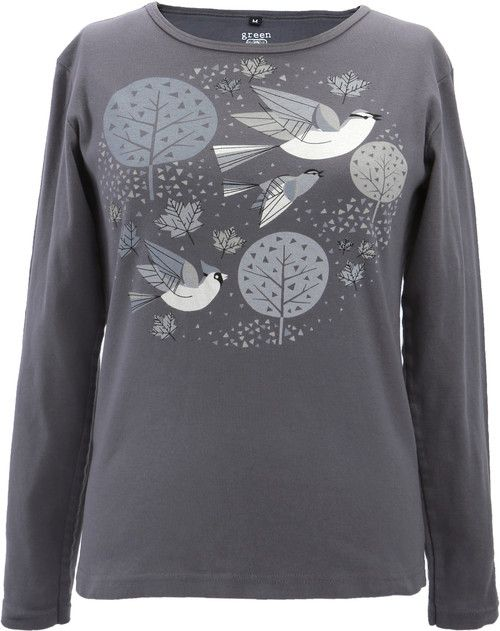 Green 3 Apparel Mid Century Birds