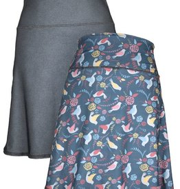 Lightspeed Multi Birds & Crosshatch Reversible Sport Skirt