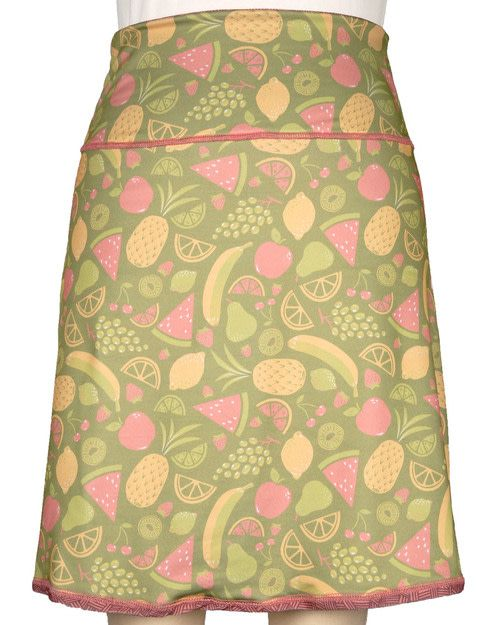 Green 3 Apparel Fruits & Crosshatch Reversible Sport Skirt