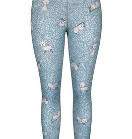 Green 3 Apparel Kitty & Floral Reversible Leggings