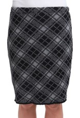 Green 3 Apparel Plaid Pencil Skirt