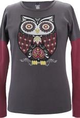 Green 3 Apparel Retro Owl