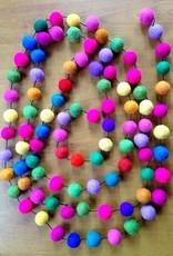 Ganesh Himal Felt Ball Garland Multicolor (10ft)