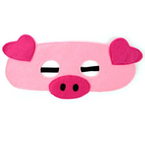 Pig Felt Mask