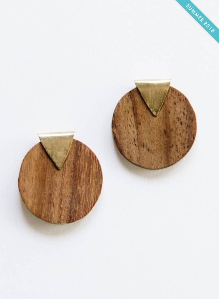 Camilla Wood Studs