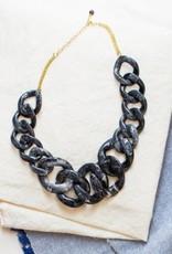 Ankara Necklace Black