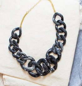 Ankara Necklace Black