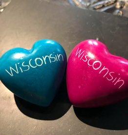 Venture Imports Wisconsin Soapstone Heart