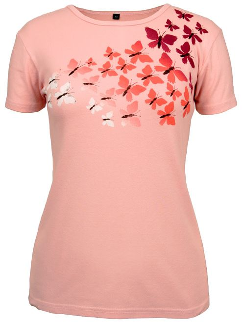 Green 3 Apparel Ombre Butterfly Blush