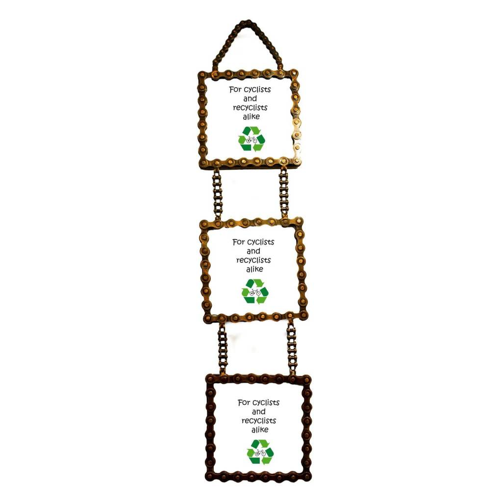 Mira Fair Trade Bicycle Chain 3 Tier Picture Frame