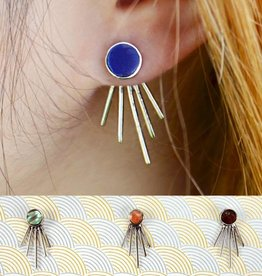 Spike Ear Jacket Stud Earrings