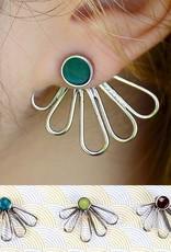 Petal Ear Jacket Stud Earrings