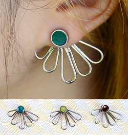 Petal Ear Jacket Stud Earrings