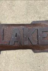 Lake Sign w/Arrow