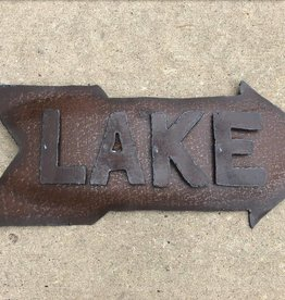 Lake Sign w/Arrow