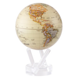 "Mova Globe - 4.5"" Political Map Yellow"