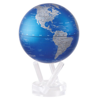 "Mova Globe - 4.5"" Blue and Silver"