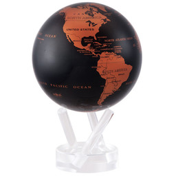 "Mova Globe - 4.5"" Black and Copper"
