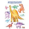 Popular Dinosaurs Watercolor Poster