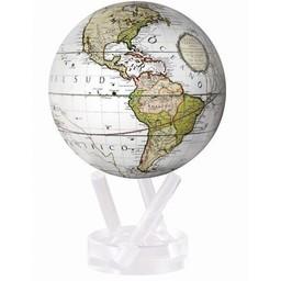 "Mova Globe - 4.5"" Antique Terrestrial White"