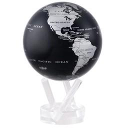 """Mova Globe - 4.5"""" Silver/Black Earth"""