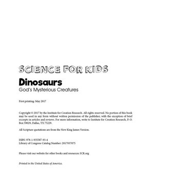 Dinosaurs: God's Mysterious Creatures - eBook