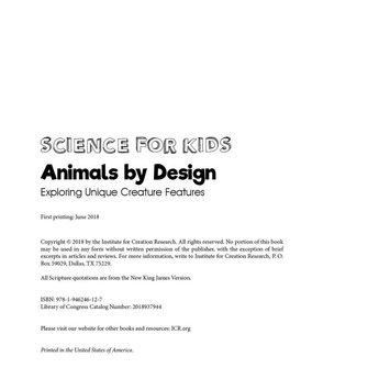 Animals by Design: Exploring Unique Creature Features - eBook
