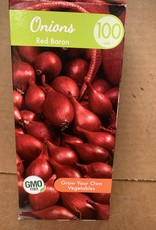 Onion sets, Red Baron, 100 qty Boxed
