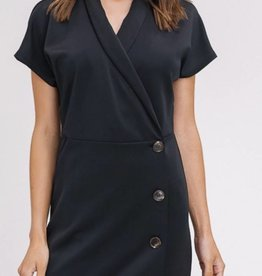 LISTICLE V-Neck Wrap Button Dress